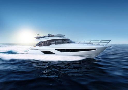 яхта на солнце